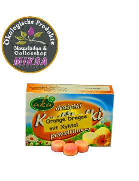 Xylitol- Orange –Dragee 0% Zucker