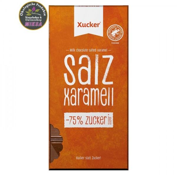 Vollmilch Schokolade mit Salz, Xaramell und Xylitol