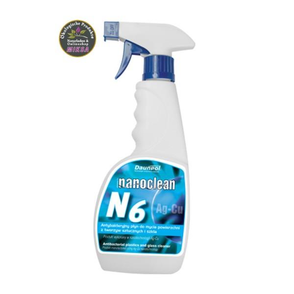 NANOCLEAN N6 - Reinigungsmittel mit Silber und Kupfer für Glas und Kunststoffoberflächen
