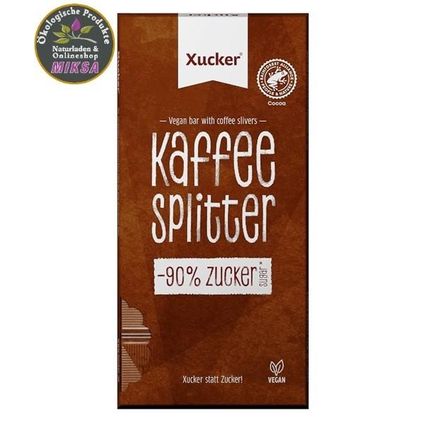 Vegane Kaffeesplitter Schokolade mit Xylitol