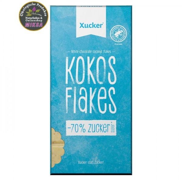 Weiße Xylitol-Schokolade Kokos & Flakes