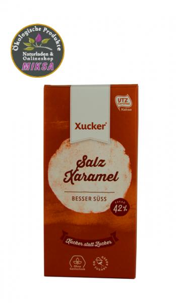 Schokolade mit Xylitol und Salz, Karamell