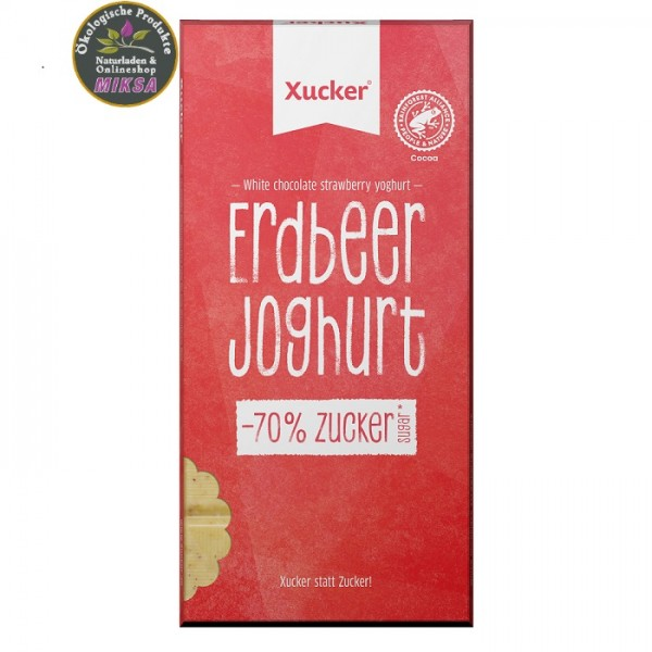Weiße Xylitol-Schokolade Erdbeer-Joghurt