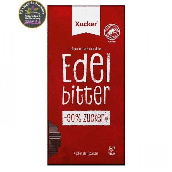 Vegane Edelbitter-Schokolade mit Xylit und 75 % Kakao