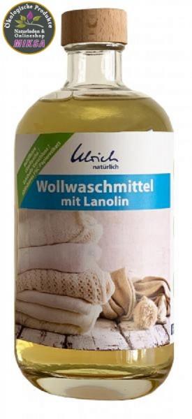 Ulrich natürlich Wollwaschmittel mit Lanolin 500 ml Glasflasche