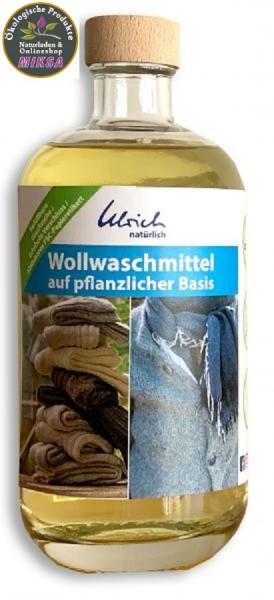 Ulrich natürlich Wollwaschmittel auf pflanzlicher Basis 500 ml Glasflasche