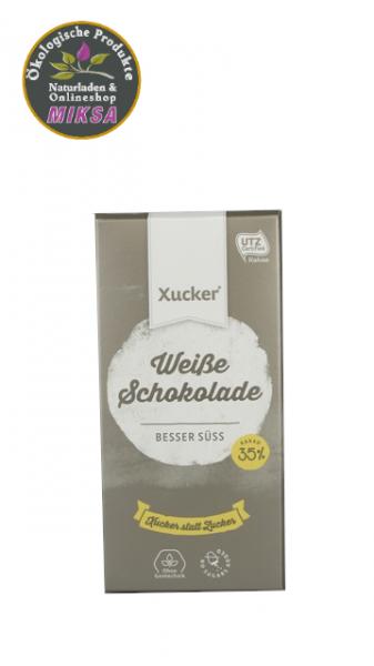 Schokolade weiß mit Xylitol und Vanillepulver