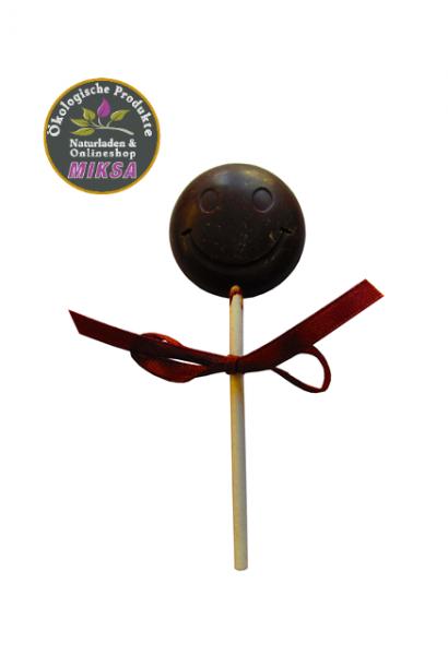 Lutscher aus dunkler Schokolade, zuckerfrei mit Xylitol