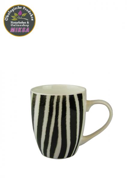 Becher Zebra