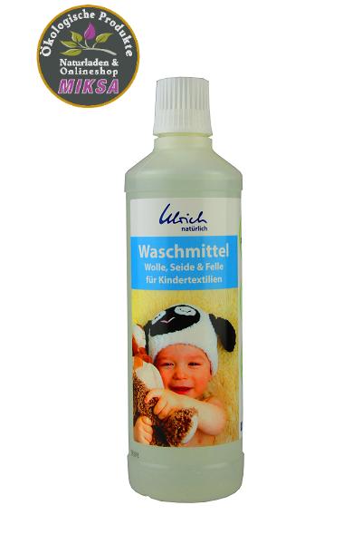 Ulrich natürlich Waschmittel Wolle, Seide & Felle für Kindertextilien 500ml Neue Rezeptur
