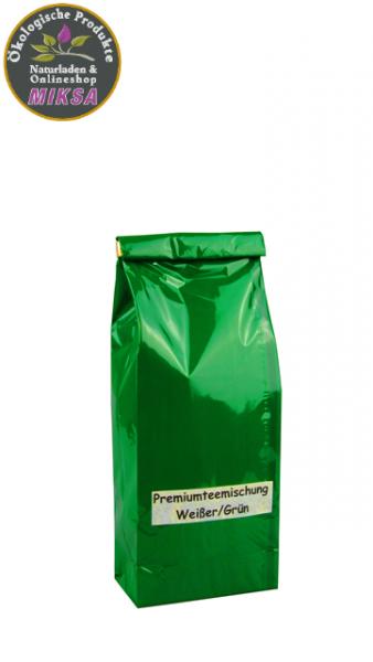 Premiumteemischung Weißer/Grüner Tee Elegance (Vanille-Jasmin-Note) aromatisiert