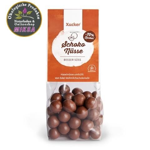 Schoko-Haselnüsse in Vollmilch-Schokolade mit Xylitol