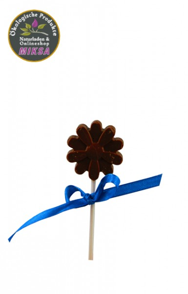 Lutscher aus Milchschokolade, ohne Zucker