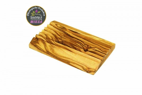 Seifenablage aus Olivenholz rechteckig