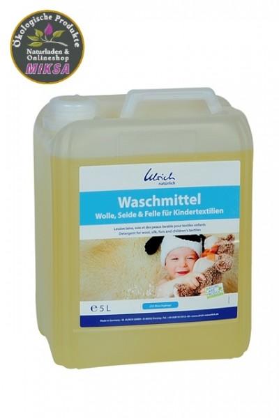 Ulrich natürlich Waschmittel Wolle, Seide & Felle für Kindertextilien 5l