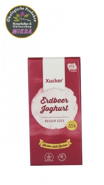 Schokolade weiß mit Erdbeer-Joghurt und Xylitol