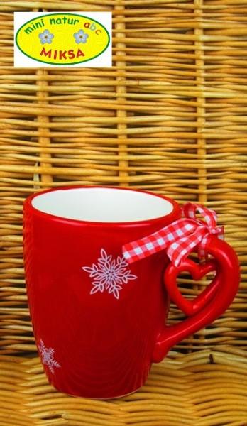 Weihnachtsbecher mit Schneeflocken