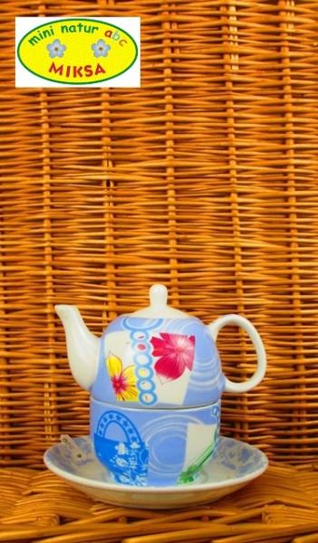 Tea for One Set blau